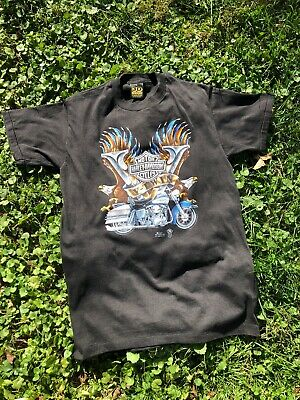$ CDN326.66 • Buy Vintage 1987 3D EMBLEM Harley Davidson V-Twin T Shirt Size Large Made In USA TN