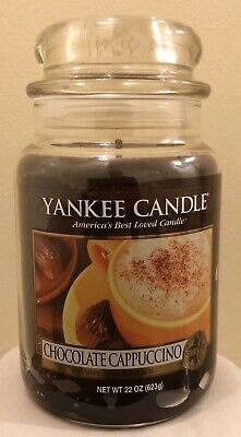 Yankee Candle Chocolate Cappuccino, Rare & Retired Scent, Large, Lit For 5 Mins • 27.99£
