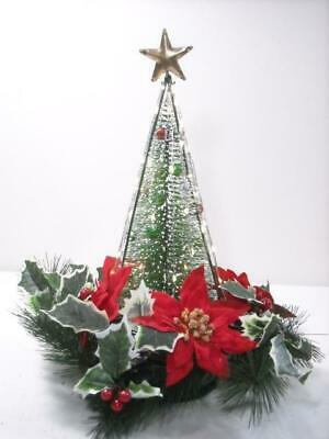 $ CDN32.71 • Buy Vintage 14  Tall Lighted  Bottle Brush Christmas Tree W/ Box, Battery Operated
