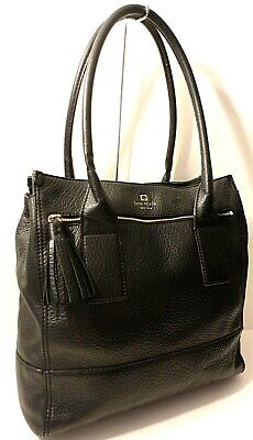 $ CDN15.04 • Buy Kate Spade New York Genuine Leather Tote Office Shoulder Purse Bag Tassel Charm