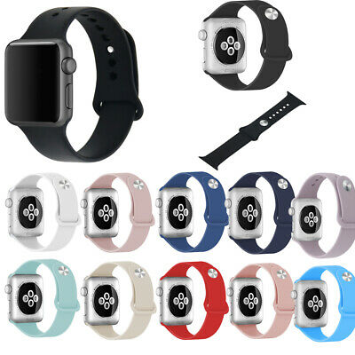 Soft Silicone Band Sports Watch Strap Replacement For Apple Watch 38/42/40/44mm • 5.79£
