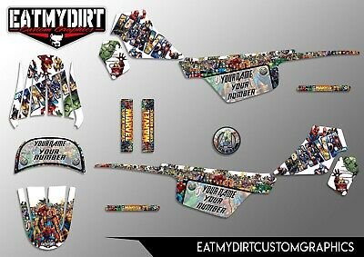 $ CDN76.73 • Buy For Yamaha Pw50 1981-2010  Full Custom Graphics Kit Stickers Motocross Mx Decals
