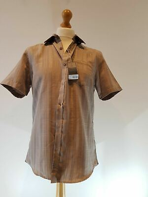 Atlantic Bay Soft Touch Authentic Design Men's Brown Short Sleeve Shirt Medium  • 7.49£