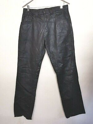 £126 • Buy BROOKS 100% LEATHER BIKER TROUSER Or CASUAL TROUSER Made In USA Size 36