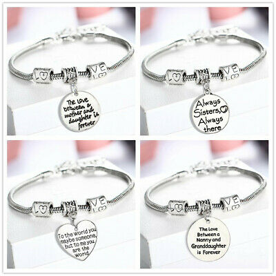 925 Sterling Silver Plated Bangle Bracelet Charm Lady Womens Jewellery Xmas Gift • 3.99£