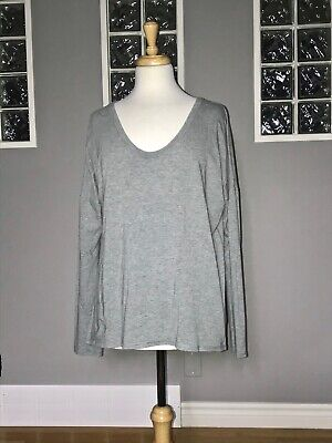 $ CDN58 • Buy Lululemon Yogini 5 Year Long Sleeve Tee 12 Heathered Gray Pima Cotton Pullover