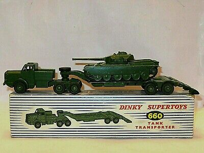 Dinky 660 Tank Transporter, Smart Model In Good Clean Box. Comes With A Tank.  • 58.99£