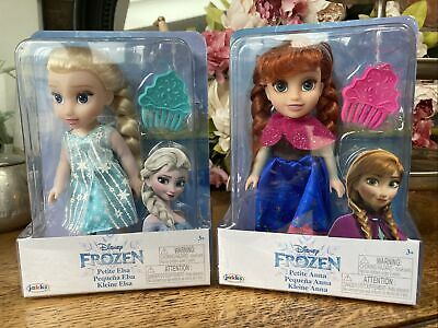 NEW Disney Frozen Petite Small Anna & Elsa Toddler Dolls, Come Play With Me • 22.51£