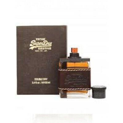 New Superdry Vintage Double Dry Cologne 100ml EDC Spray Men • 36.99£