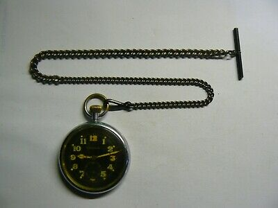 Rare Vintage 1940 British Army WW2 JAEGER LeCOULTRE  Pocket Watch Chain, Boxed   • 350£