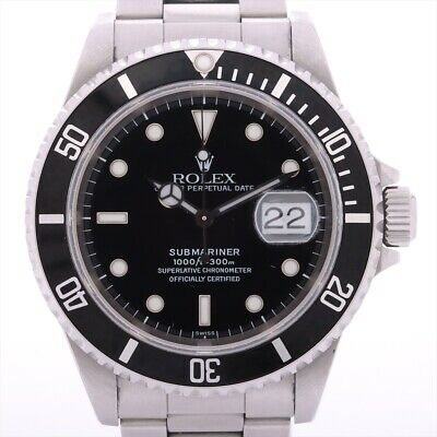 $ CDN10820.83 • Buy Rolex Submariner 16610 U No. Stainless Steel AT Black Dial