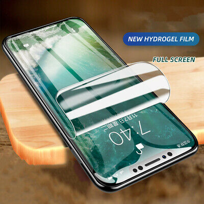 AU4.10 • Buy Full Cover Hydrogel Film For IPhone 13 12 Pro 11 Screen Protector XR XS Max X 7+