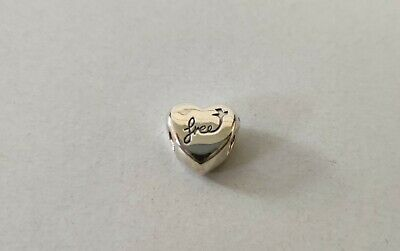 Pandora Charm Sterling Silver Spacer Heart • 6£