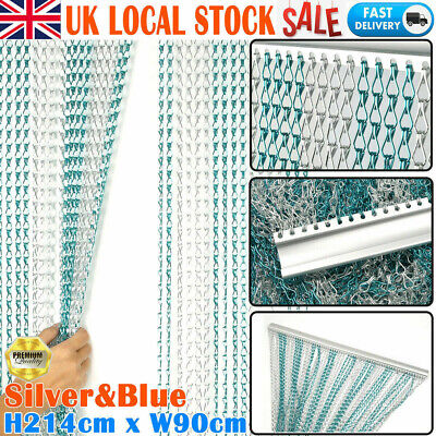 Aluminium Chain Metal Door Curtain Strip Link Bug Fly Pest Insect Blinds UK • 35.99£