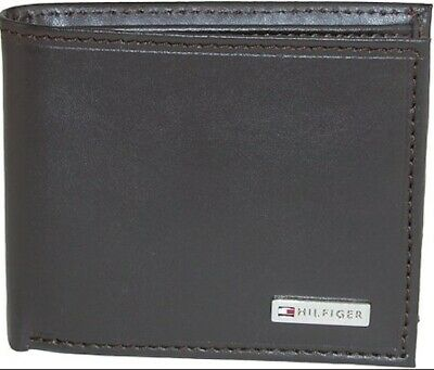 Tommy Hilfiger Men's Leather Fordham Bifold BROWN Wallet With Coin Pocket  • 12.50£