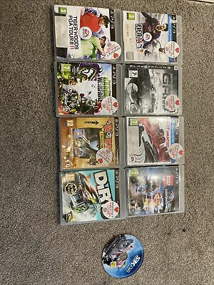 PS3 Games Bundle Most Wanted Dirt Worms Grid Fifa Lego Jurassic World SBK Zombie • 3.60£