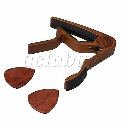 AU17.08 • Buy Brown Guitar String Instrument Clamp Capo W/ Picks For Ukulele Banjo