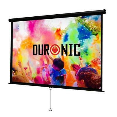 £79.99 • Buy Duronic Projector Screen MPS100/169 Manual Pull Down HD Projection Screen For |