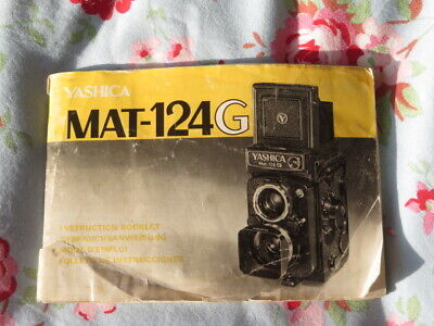 Yashica User Guide Manual For MAT 124G Camera TLR 6x6 Film • 12£