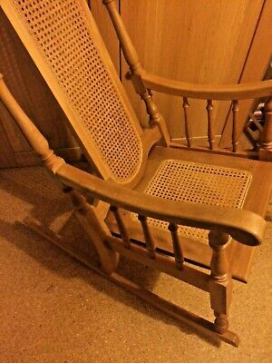 Wooden Rocking Chair Large Recently Strung, Nice Details. Maternity Use? (Ely) • 50£