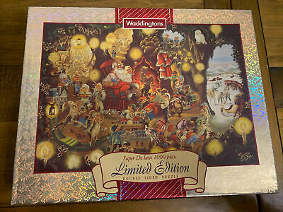 Limited Edition Double Sided 1000 Piece Jigsaw Puzzle - Santa's Grotto • 5£