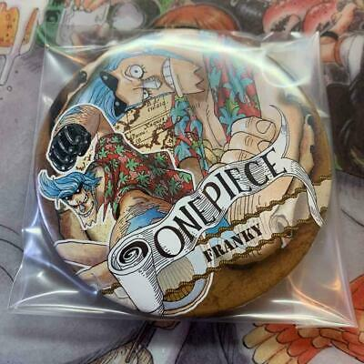 BANDAI ONE PIECE Franky 2in Pin Square Can Badge Button Badge Shonen Jump 77 • 48.90£