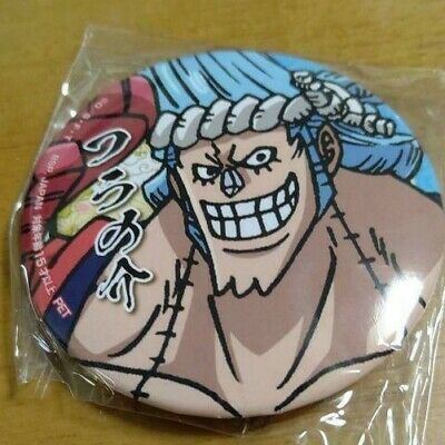 BANDAI ONE PIECE Franky 2in Pin Square Can Badge Button Badge Shonen Jump 56 • 47.74£