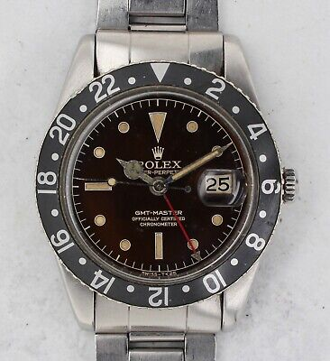 $ CDN2541.63 • Buy Vintage Rolex GMT-Master Wristwatch Ref. 6542 Tropical Dial RARE NR