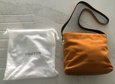 AU61 • Buy OROTON Suede / Leather Tan Handbag Bag BN