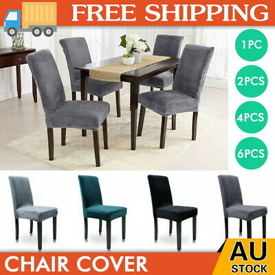 AU21.99 • Buy Dining Chair Covers Banquet Seat Cover Stretch Slipcover Washable Protector AU