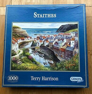 Gibsons Jigsaw Puzzle 1000 Pieces - Staithes, North Yorkshire - Terry Harrison • 8.50£
