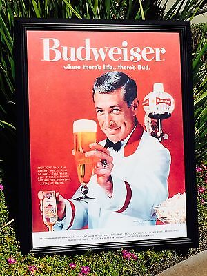 $ CDN126.56 • Buy Budweiser Vintage Look Poster Beer Bar Sign Pub Glass Frame Mirror Man Cave