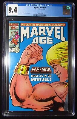 $25.05 • Buy Marvel Age #38 CGC 9.4...Pre-dates  Masters Of The Universe #1  By Marvel Comics
