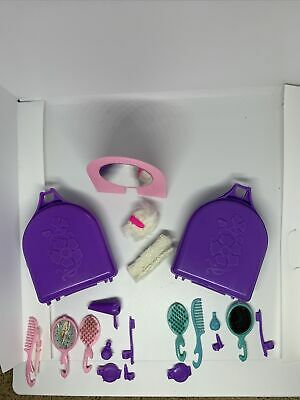 $ CDN1.28 • Buy 2 Vintage Barbie Accessories Purple Suitcase And Accessories