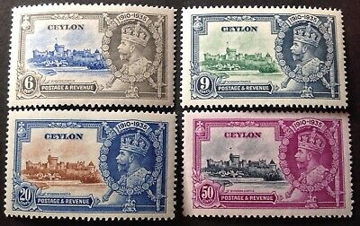 Ceylon 1935 Silver Jubilee Set Of 4 Stamps Mint Hinged • 2.20£