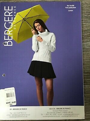 Bergere De France Knitting Pattern:  Ladies Cable Sweater, DK, S-XL, 70488  • 3.27£