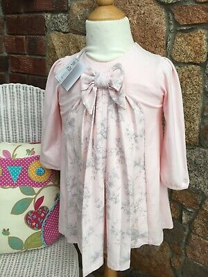 Emile Et Rose Baby Girl Pink Winter Dress Bow Detail Age 1 Bnwt • 7.80£