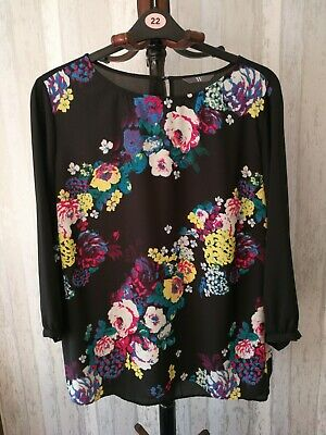 BHS Floral Print Top Size 22 • 1£