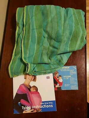 £72.74 • Buy Didymos Slings Baby Carrier Organic Wrap Sling, Waves Lime, Size 7