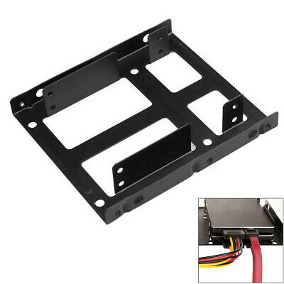 AU13.42 • Buy Dual SSD HDD Mounting Bracket 2.5 To 3.5  Internal Hard Disk Drive Kit Cables
