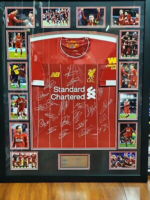 AU1495 • Buy  LIVERPOOL 2019/2020 PERSONALLY HAND SIGNED JERSEY PLUS COA EPL Winners