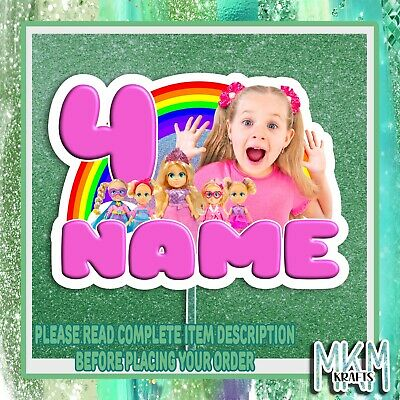 """£4.99 • Buy Dear Diana Personalised 6"""" Stand Up Card BIRTHDAY CAKE  Topper Any Name Age"""