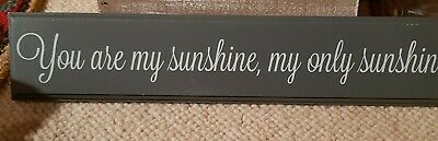 Brand New You Are My Sunshine My Only Sunshine Wooden Plaque • 3.99£