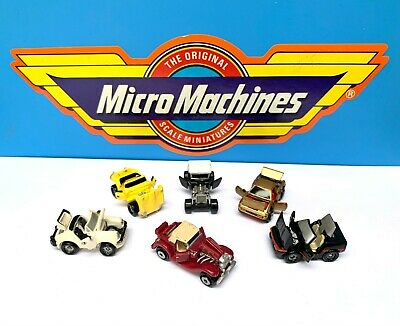 Micro Machines Deluxe 6 Car Set 1990's Vintage Mondial Corvette EType 911 Galoob • 9.99£