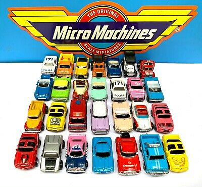 Micro Machines 28pc Job Lot Bundle Collection 1989 1990 Vintage Galoob Car Truck • 23£
