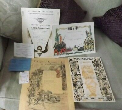 French Foreign Legion Brevets And Certificates Large & Small. 2REP And 1REC #5 • 45£