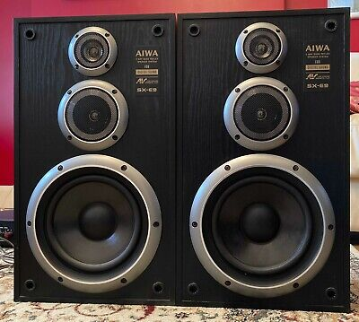 Pair Of AIWA SX-E9 120W Stereo Speakers, 120 W, 6 Ohm, Great Condition  • 25£