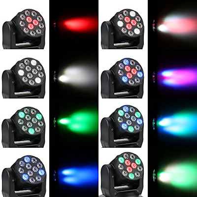 £39.95 • Buy 12 X LED's 40w LED RGBW Sound Activated Moving Head Lighting System