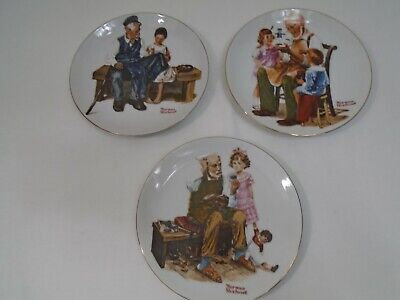 $ CDN13.61 • Buy Vintage 1982 Lot Of 3 Norman Rockwell Museum Knowles 6-1/2  Collector Plates  B2