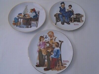 $ CDN12.96 • Buy Vintage 1982, 84 Lot Of 3 Norman Rockwell Museum 6-1/2  Collector Plates  B3